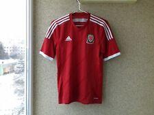 Wales 2013/2014/2015 Home football shirt S Jersey Adidas Soccer Camiseta