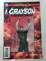 GRAYSON FUTURE'S END #1 3D LENTICULAR MOTION COVER (2014) DC COMICS 1ST PRINT NM