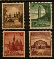 Germany Third Reich 1938 Mi#665-668 MNH    German Sports Tournament Breslau