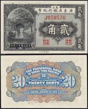 CHINA 1922 P-S2407 20 Cents PROVINCIAL BANK OF KWANGTUNG UNC - US-Seller