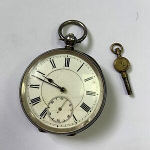 Antique 935 Silver Pocket Watch 53mm in Diameter 119g