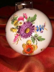 Meissen Porzellandose 1 Wahl Bunte Blumenbukett  mit Insekten