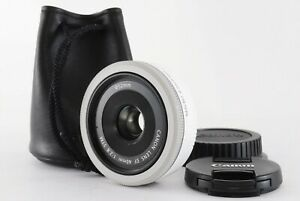 Canon EF 40mm f2.8 STM Pancake Lens White w/case From JAPAN [Excellent+5] PL249