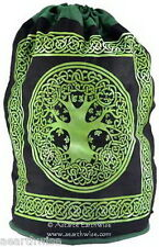 TREE OF LIFE BACK PACK - COTTON LARGE 430 x 250mm SLING STYLE Wicca Pagan Witch