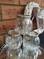 Vintage Style Glass Tea Light Candle Holder Round Pumpkin Wedding Table Decor