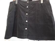jupe , noir, taille: 48, (M&S collection), 98% coton, NOUVEAU