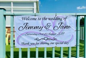wedding banner personalised large 125cm x 68cm PVC