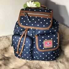 Lily Bloom Riley Backpack - Polka Dot Navy Print
