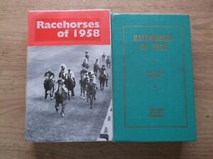 """TIMEFORM """"RACEHORSES OF 1958""""  ALMOST MINT IN A MADE UP DUST JACKET"""