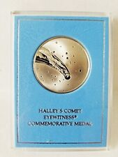 RARE 1985 HALLEY'S COMET EYEWITNESS STERLING SILVER PROOF MEDAL FRANKLIN MINT
