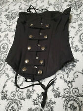Orchard Corset Steel Boned Gothic Steam Punk Black Laces Womens