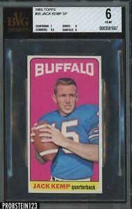 1965 Topps Football #35 Jack Kemp SP Buffalo Bills BVG 6 w/ 8