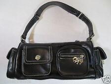 Citybag Handtasche MNG Schultertasche Faux-Leder schwarz wie NEU/W36