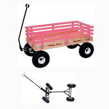 """Amish Built New Wood Wagon 16""""x36"""" Bed 800 lb Capacity Made in USA #280 No Tax"""