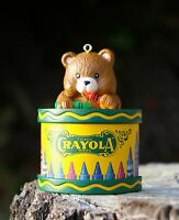 Crayola Crayon Teddy Bear Christmas Holiday Ornament Binney & Smith Inc.