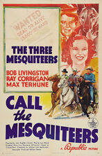 Call the Mesquiteers (1938) Bob Livingstone Cult Western movie poster print