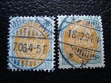 DANEMARK - timbre yvert et tellier n° 29A 29B obl (A9) denmark