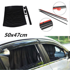 Universal 50x47cm Black Mesh VIP Car Window Sunshade Curtain Anti-UV Sun Visors