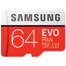 Samsung 64GB EVO Plus Evo+ 100M/s Class 10 U3 UHS-I MicroSD SDXC Memory Card