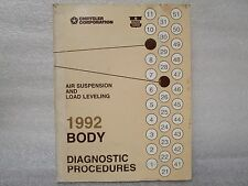 1992 BODY DIAGNOSTIC PROCEDURES AIR SUSPENSION AND LOAD LEVELING 81-690-0245