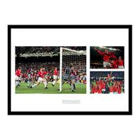 Manchester United 1999 Champions League Final Triple Photo Memorabilia (MU99)