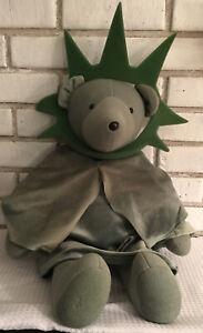 """North American Bear NABC Statue of Libearty Liberty 21"""" Plush Stuffed w crown"""