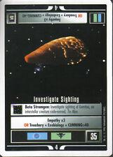 STAR TREK CCG WHITE BORDER PREMIERE 1995 BETA RARE INVESTIGATE SIGHTING