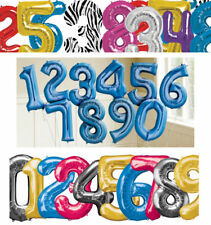 """40""""Giant Foil Balloons Number Shape Helium Wedding Birthday Party Christmas 0-9"""