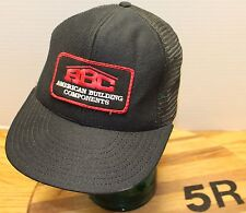 ABC AMERICAN BUILDING COMPONENTS HAT TRUCKERS SNAPBACK MADE IN THE USA VGC