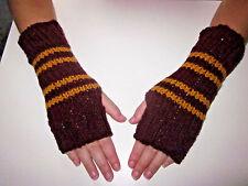 Harry Potter Inspired Fingerless Gloves/Wrist Warmers- Gryffindor Colors