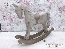 Chic Antique Shabby Vintage Deko Holz Schaukelpferd Pferd