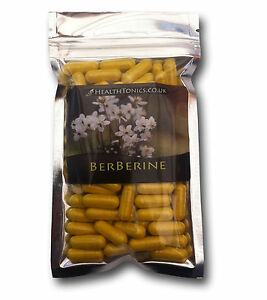Berberine Extract 300mg (97% Berberine Hydrochloride), Vegetarian Capsules