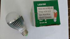10 x 5W Dimmable ES E27 Warm White LED Light Lamp Bulb Low Energy 240V JobLot