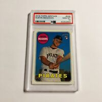 Austin Meadows 2018 Topps Heritage PSA 10 Rookie Card RC #568