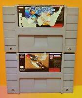Ken Griffey Jr. + Hardball III Baseball Super Nintendo SNES Authentic Game Works