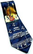 Guitar Music Notes Musician Band Hobby Instrument Novelty Tie