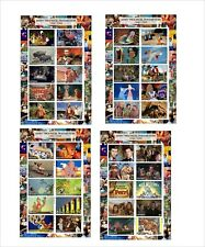2012 DISNEY 1937 - 1971 FEATURE FILMS 10 SOUVENIR SHEETS MNH IMPERFORATED