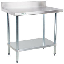 "Regency 24"" x 36"" Stainless Steel Work Prep Table Commercial 4"" Backsplash NSF"