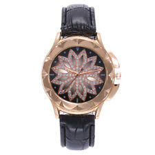 Fashion Luxury Women Watch Starry Sky Leather Band Quartz Diamond Wrist WatchCA