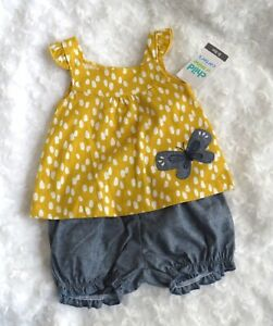 Baby girls 0-3 months shirt and short set Carters Child of Mine