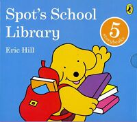 Spot's School Library 5 Books Hard Cover Book Set by Eric Hill Children Book New