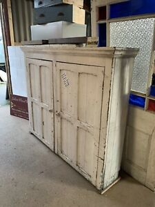 RECLAIMED Victorian - ANTIQUE PITCH PINE CUPBOARD (Linen, Housekeepers, Kitchen)