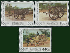 LAOS N°1230/1232** Charettes, 1996 Carts Sc#1289-1291 MNH