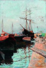 Wassily Kandinsky Odessa Port 1898 Art Poster Print Picture A4