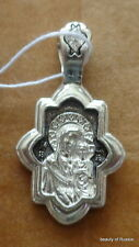 PLATA 282m Colgante Madre Dios KAZAN Consecrated the Relics St George 5s