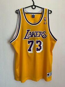 LOS ANGELES LAKERS Dennis Rodman NBA CHAMPION BASKETBALL SHIRT JERSEY CAMISETA