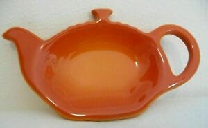 LE CREUSET Stoneware Teabag Holder -  Volcanic Orange - Brand New - RARE