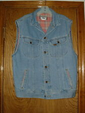 Men's Lee Sleeveless Denim Blue Jean Jacket Medium