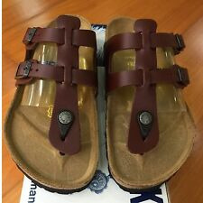 Birkenstock Sparta 058171 size 37 L6-6.5 R Brandy Red Leather Thong Sandals