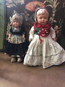 "VINTAGE 9"" CELLULOID DOLL - DOVINA ROTTERDAM HOLLAND - DUTCH - + Sweden Doll"